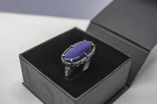 Мужское кольцо в стиле виженери-арт