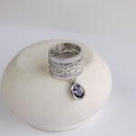 Женское кольцо с аметистом