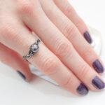 Тонкое кольцо с жемчужиной