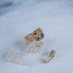 Кольцо из розового золота с раухтопазом