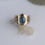 Эльфийское кольцо с сапфиром
