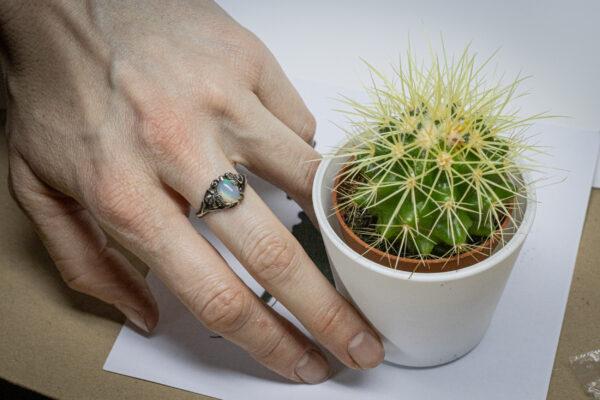 Эльфийское кольцо с опалом