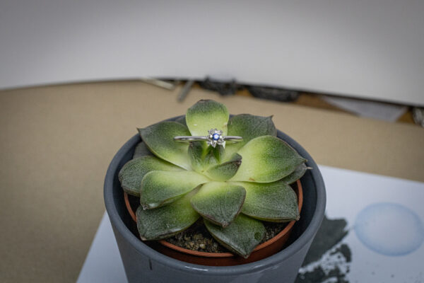 Серебряное кольцо с лотосом