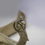 Кольцо с ангелом и опалом