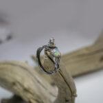 Серебряное кольцо с купидоном