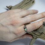 Нежное кольцо с ангелочком