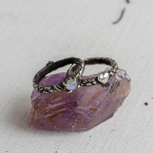 Парные кольца с сердцами