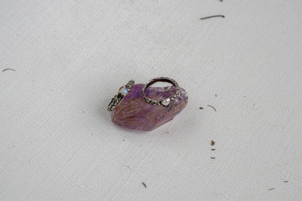 Тонкие серебряные кольца