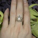 Эльфийское кольцо с лунным камнем