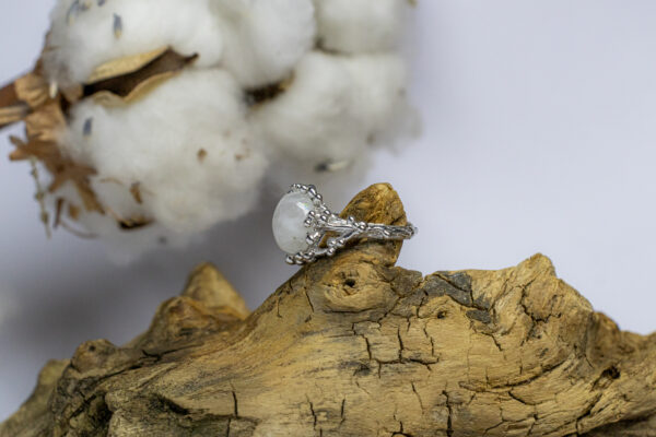 Фэнтезийное серебряное кольцо
