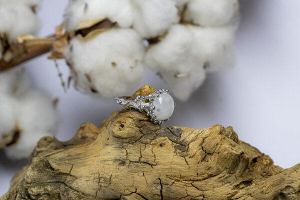 Серебряное кольцо в космическом стиле
