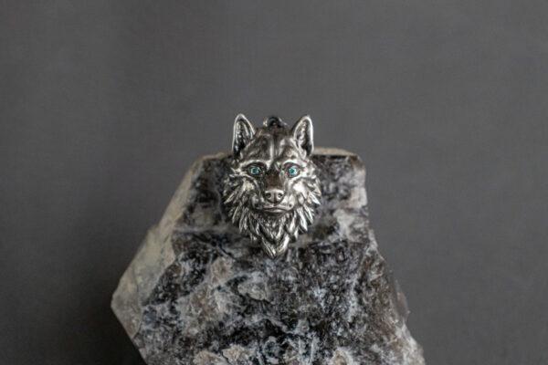Серебряный кулон с бриллиантами