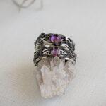Серебряные кольца с аметистами