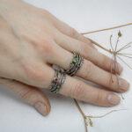 Эльфийские кольца с драгоценными камнями