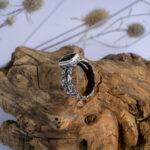 Крупное мужское кольцо с турмалином