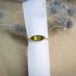 Золотое кольцо с крупным сапфиром