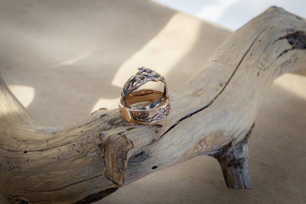 Золотые кольца-веточки